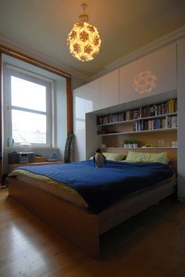 作り付け,本棚,寝室,ベッドルーム,収納,DIY